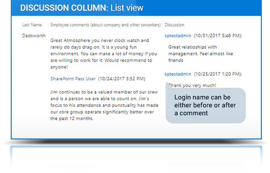 Discussion Column description, photo 3