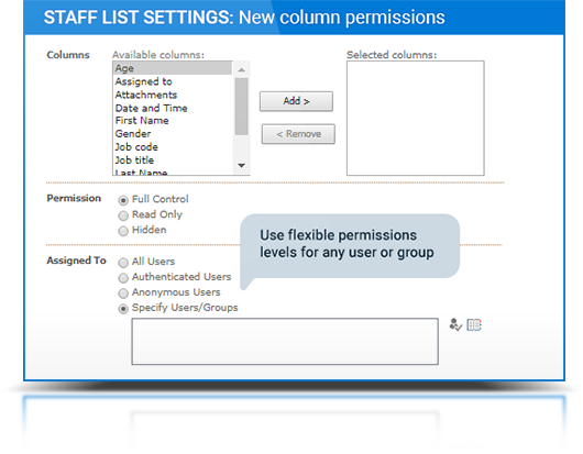 Column Permissions description, photo 2
